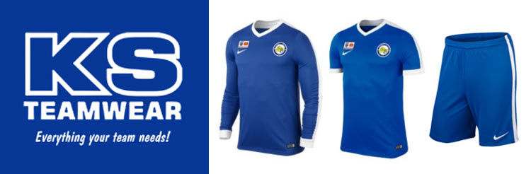 KS Teamwear logo and kit samples